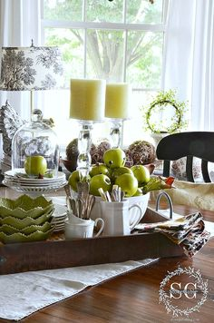 30 Amazing Photo of Dining Room Vignette . Dining Room Vignette 6 Tips For Creating A Kitchen Table Vignette French Country Tray Decor, Decoration Table, Table Centerpieces, Centerpiece Ideas, Quinceanera Centerpieces, Wedding Centerpieces, Kitchen Vignettes, Kitchen Decor, Kitchen Armoire