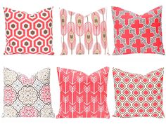 coral pillow covers sofa pillows coral cushion covers one decorative throw pillow cover - Coral Decorative Pillows