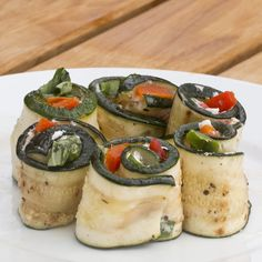 Goat's Cheese and Pepper Courgette Roll-Ups