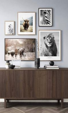 Create your frames wall with Desenio – Clem Around The Corner photo souvenir safari wedding party wedding gift portrait black … Rooms Home Decor, Home Decor Wall Art, Home Living Room, Gallary Wall, Country Wall Art, Homemade Home Decor, Kids Room Wall Art, Animal Posters, Living Room Pictures