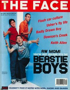 The Face about Beastie Boys Beastie Boys, Ill Communication, Basketball Movies, The Face Magazine, Valley Girls, Music Magazines, Magazine Design, Are You The One, Musica