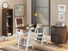Mesa Cavalete Madesa Tutti Colors Marrom - Escrivaninhas e Mesas para Computador - Magazine Luiza