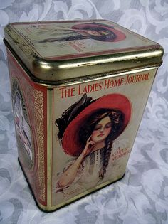 Sold THE LADIES HOME JOURNAL Decorative Tin Party Cookies Inc. Illinois Collectible