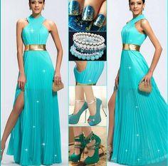 dress in blue #blue dress #prom dress #evening dress