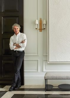 Interior designer Thomas Pheasant has been designing celebrated home furnishings for more than 15 years. Luxury Home Decor, Luxury Interior, Interior Architecture, Luxury Homes, Interior Design, Classic House, Modern Classic, Wall Design, House Design