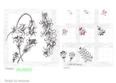 Life Imitates Doodles: floral tangles
