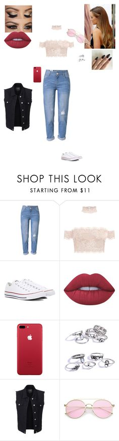 """""""Performing @ A Music Festival"""" by sonialicetmartinez ❤ liked on Polyvore featuring WithChic, Converse, Lime Crime and LE3NO"""