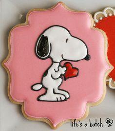 Snoopy Valentine cookies.