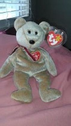 5fc812c2218 TY BEANIE BABY 1999 SIGNATURE BEAR RARE HANG TAG ERROR  HTF!!  COLLECTIBLE!   Ty