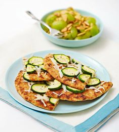 Fitness Magazine's The Beach Body Boot Camp Diet: Rosemary and Zucchini Flatbread with White Grape Salad