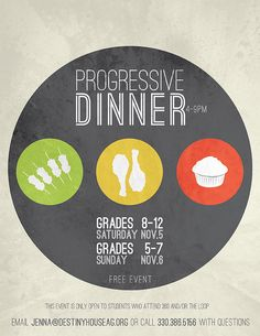 Youth Progressive Dinner Flyer by rbartlomain, via Flickr