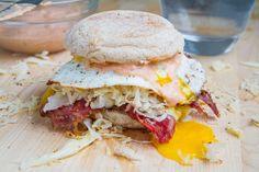 Vegetarian Breakfast Reuben Sandwich (change corned beef)