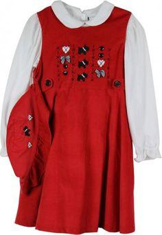 Little Bitty 3 Piece Corduroy Dress