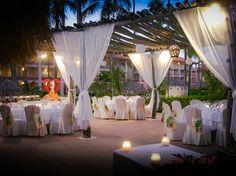 Parrot Bar wedding reception at Majestic Colonial, Punta Cana | Destination Weddings