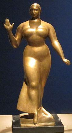 'Walking Woman', bronze sculpture by Gaston Lachaise, 1922, Honolulu Museum of Art.