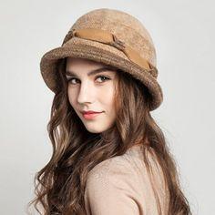 Fashion crimping bowler hat for women warm wool winter hats