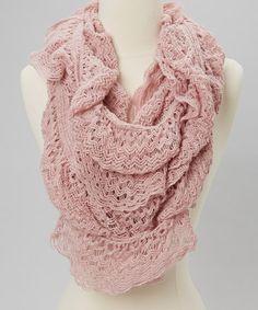 pretty pink crochet scarf