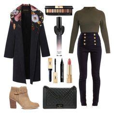 """Cozy Winter Coat"" by fennia1995 ❤ liked on Polyvore featuring Balmain, Sole Society, Chanel, Yves Saint Laurent, NYX, Dolce&Gabbana, Victoria's Secret, Winter, season and wintercoat"