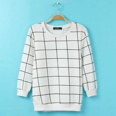 Plaid Pattern Long Sleeve Pullover Short Hooded Sweatshirts For Women