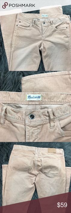 Madewell | Rail Straight Cords Brand new without tags | never worn | Light pink / peachy color rail Straight Corduroy Pants | Women's size 29 | Open to reasonable offers Madewell Pants Straight Leg