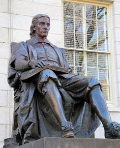 John Harvard statue in Harvard Yard - founder of Harvard University Cambridge MA a TV for the year is just another perk of Boston Strong, In Boston, Harvard Yard, Cambridge Boston, Dream School, Harvard University, Boston Massachusetts, Travel Memories, New Hampshire