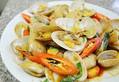 Thai Food Recipe: Hoi Laai Pad Prik Phao (Stir Fried Clams with Thai Chili Paste) – Joy's Thai Food Recipe Blog and Training for Beginners