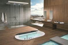 Baignoire idées de conception de salle de bains installation de douche