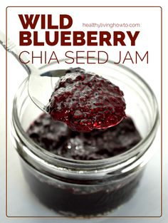 Wild Blueberry Chia Seed Jam   healthylivinghowto.com