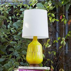 Mid-Century Table Lamp - Bottle #westelm