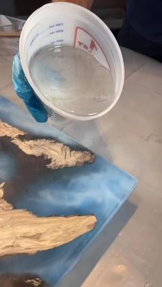 Diy Resin River Table, Wood Resin Table, Epoxy Resin Wood, Diy Epoxy, Acrylic Resin, Diy Resin Crafts, Diy Craft Projects, Wood Crafts, Wood Projects