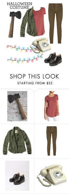 """Joyce Byers"" by oliflores1022 ❤ liked on Polyvore featuring Olivia Sky, Hollister Co., Paige Denim, MM6 Maison Margiela, GPO, halloweencostume and DIYHalloween"