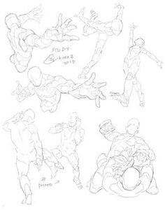 """Anatomy Drawing Reference KrenzCushart on - """"<getsure study>人體習作"""" Body Reference Drawing, Drawing Reference Poses, Anatomy Reference, Gesture Drawing Poses, Male Figure Drawing, Anatomy Drawing, Anatomy Art, Poses Anime, Fighting Drawing"""