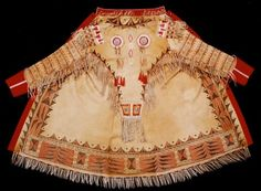 Beautiful coat with quill work decorations.