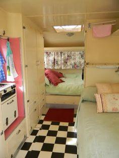 dreams, dream homes, vintage caravans, travel trailers, caravan interiors