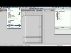 Sketchup for Woodworkers – Dimensions and Printing - Woodworking Sketchup Woodworking, Woodworking Software, Woodworking Courses, Woodworking School, Learn Woodworking, Woodworking Furniture, Woodworking Plans, Woodworking Projects, Woodworking Techniques