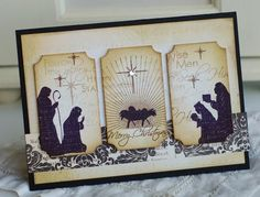 A beautiful nativity Christmas Card by nicholeheady.typepad.com