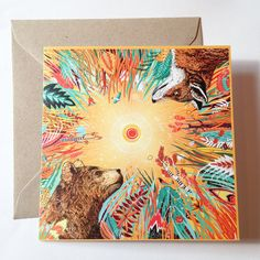 Whirlwind // Square Greeting Card by SandraDieckmann on Etsy