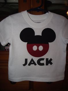 Custom made t-shirt - mickey mouse or minnie mouse - Etsy - $16.00
