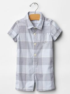 Baby Gap Plaid button-up one-piece