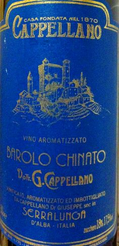 Cappellano Barolo Chinato, Italian dessert wine. Not too sweet or thick as a Port. By the glass at PMG. Rare find. Sold at Superior Liquor $99.99 for 750ml