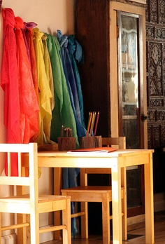 every child should have a rainbow of silks and a table their size