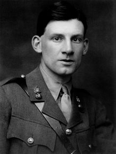 WW1 Poet Siegfried Sassoon - highly decorated warrior who had the balls to protest the war while still in uniform.