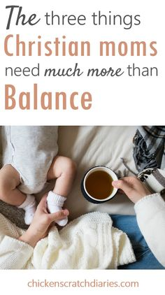 Balance - the elusive thing we seek as moms.  Maybe it's not nearly as important as we think.