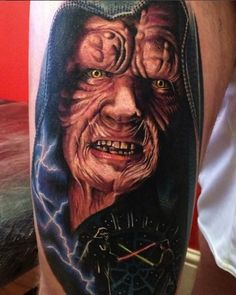 Emperor Palpatine Tattoo by Chris Jones #ink #inked #inkedmag #emperor #palpatine #tattoo #star #wars