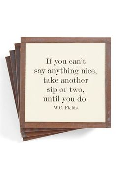 Ben's Garden 'If You Can't Say Anything Nice' Coasters (Set of 4) available at #Nordstrom