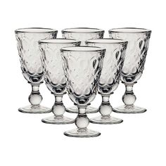 I pinned this Lyonnais Footed Goblet (Set of 6) from the Miss Mustard Seed event at Joss and Main!
