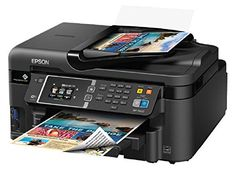 Epson WorkForce WiFi Direct All-in-One Color Inkjet Printer, Copier, Scanner Epson WorkForce Inkjet Multifunction Printer - Color - Photo Print Printer Scanner, Laser Printer, Inkjet Printer, Multifunction Printer, Best Deals Online, Small Office, Epson, One Color