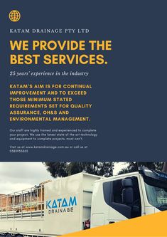 Katam Drainage has gained a reputation in the industry for being capable, professional and reliable. Confined Space, Melbourne, Management, Industrial, Good Things, Industrial Music