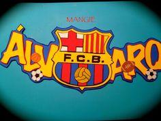 Letrero con nombre barça Topper, Origami, Baby Shower, Scrapbook, Banners, Angela, Cards, Fc Barcelona, Diy
