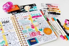hybrid and papercrafting creative faith planner by Elaine Davis | Illustrated…